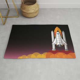 Space Shuttle night launch Rug