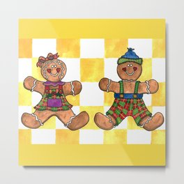 The Gingerbread Twins Metal Print