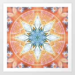 Flower of Life Mandalas 3 Art Print