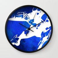 metroid Wall Clocks featuring Metroid - Samus by Bradley Bailey
