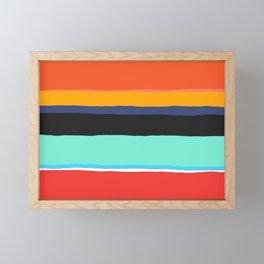 Melting Crayons Framed Mini Art Print