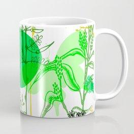 Green butterflies. Coffee Mug
