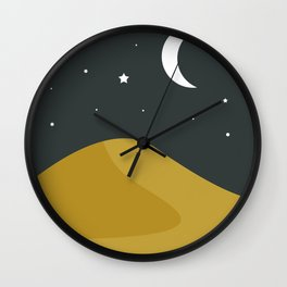Starry Desert Wall Clock