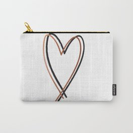 Twin Heart Carry-All Pouch