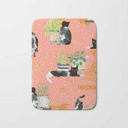 Cats & Plants #society6artprint ##cats #decor Bath Mat