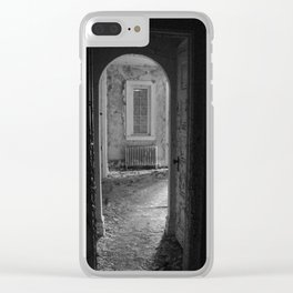 Black and White - Sometimes I Wake in Strange Places, urban exploration Clear iPhone Case