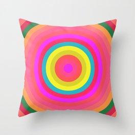 Pink Radial Throw Pillow