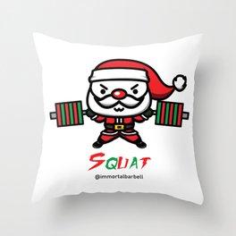 Christmas SQUAT Throw Pillow