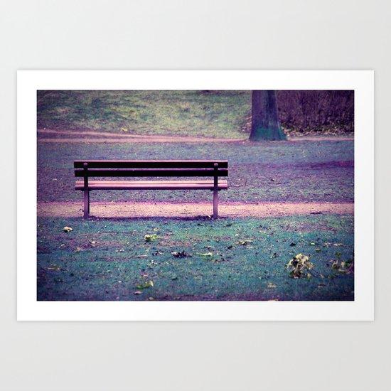 purple nature Art Print