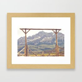 Western Mountain Ranch Framed Art Print