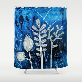 Secret Indigo Garden Shower Curtain