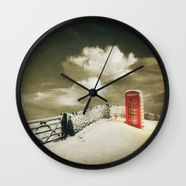 Winter in the Cotswolds, England Wall Clock