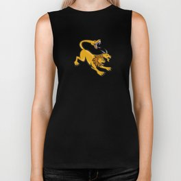 Chimera Attacking Side Cartoon Biker Tank
