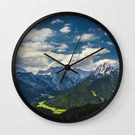Stunning Julian alps Wall Clock