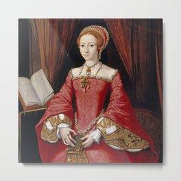 Queen Elizabeth I - The Young Princess Metal Print