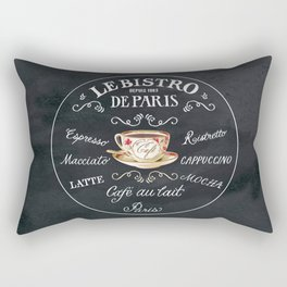 Cafe De Paris Rectangular Pillow