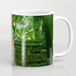 Curious Fawns In Forest Coffee Mug
