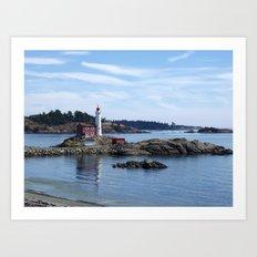 Fisgard Lighthouse, Victoria B.C. Art Print