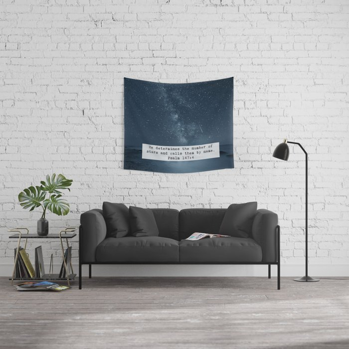 Counts the Stars Wall Tapestry