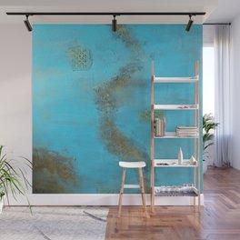 Earth. Texture. Blue. Jodilynpaintings. Brown. Abstract. Earths Crust. Wall Mural