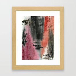 Intense - Abstract Watercolor Painting Framed Art Print