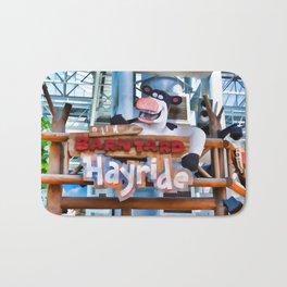 Back at the Barnyard Hayride Bath Mat