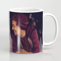 larry stylinson Mugs featuring Larry Stylinson - This is Us Campfire by Aki-anyway