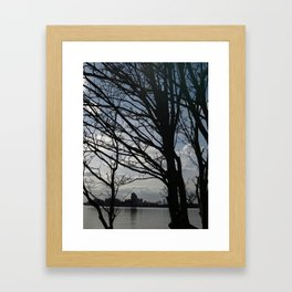 Trees along the River Thames, near Woolwich Framed Art Print