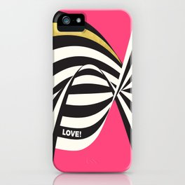 LOVE! – Wavy Stripes on Rich Pink iPhone Case