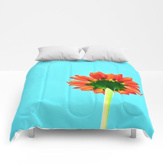 Flower orange 6 Comforters