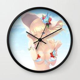 Sena Kashiwazaki on the Beach Wall Clock