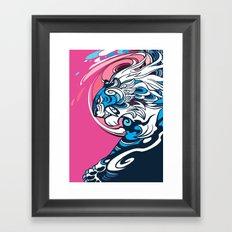 Whirlwind Tiger Framed Art Print