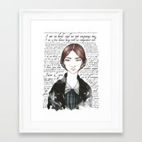 jane eyre Framed Art Prints featuring Jane Eyre by Makissima