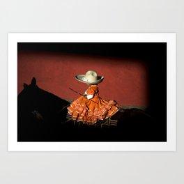 Rider girl portrait Art Print