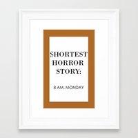 horror Framed Art Prints featuring Horror by MrWhite