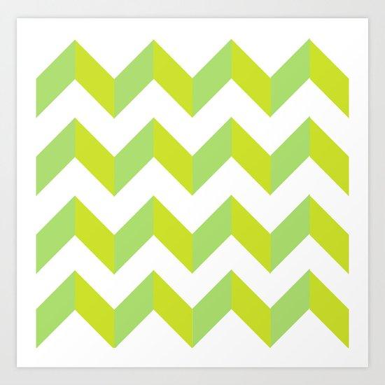 green pattern geometric Art Print
