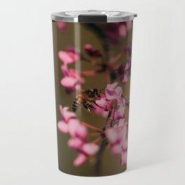 Bee on Redbud Travel Mug