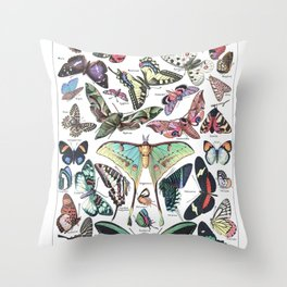 Adolphe Millot- Vintage Papillon Throw Pillow