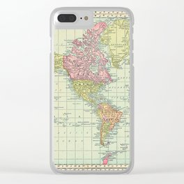 Antique World Map 1913 Clear iPhone Case