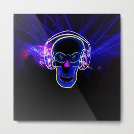DJ Skull Metal Print