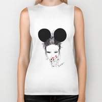 minnie Biker Tanks featuring Minnie Mouse by Bella Harris