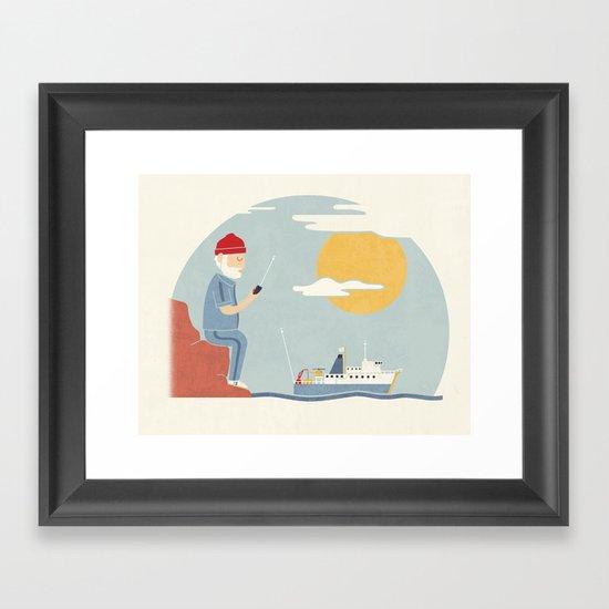My RC Boat Framed Art Print