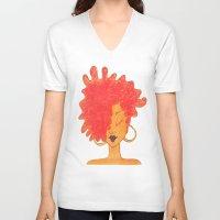 lydia martin V-neck T-shirts featuring Lydia by ChanelChristoffDavis