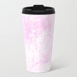Modern abstract elegant lilac white marble pattern Travel Mug