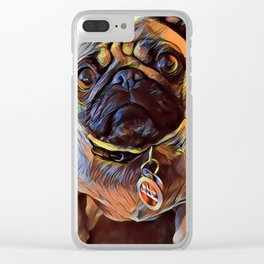 The PUG from our POP YOUR POOCH line Clear iPhone Case