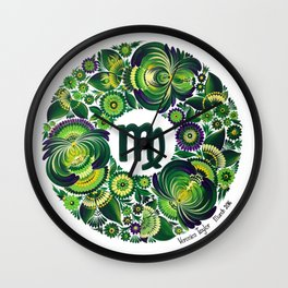 Virgo in Petrykivka style (with signature) Wall Clock