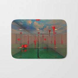 Futuristic Landscape 3D Modeling Sci-Fi Art Bath Mat