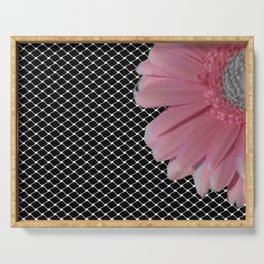 Flower with grid Serving Tray