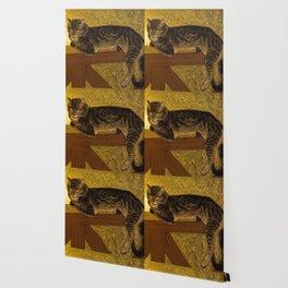 """Théophile Steinlen """"Cat on a Balustrade"""" Wallpaper"""