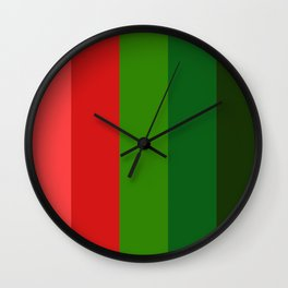 Christmas color chart Wall Clock